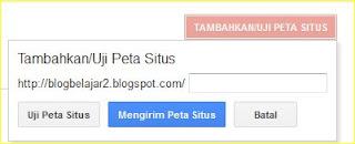 cara kirim peta situs sitemap blog ke google