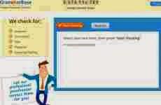 GrammarBase: permite revisar la gramática online de cualquier texto en inglés