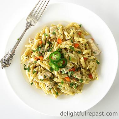 One-Pan Penne Pasta Verde / www.delightfulrepast.com