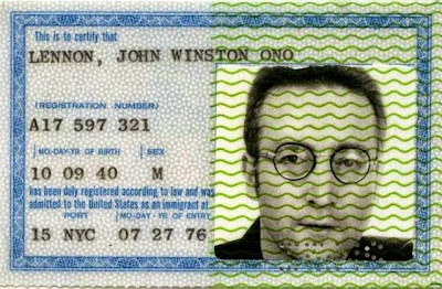 passport antik milik john lennon