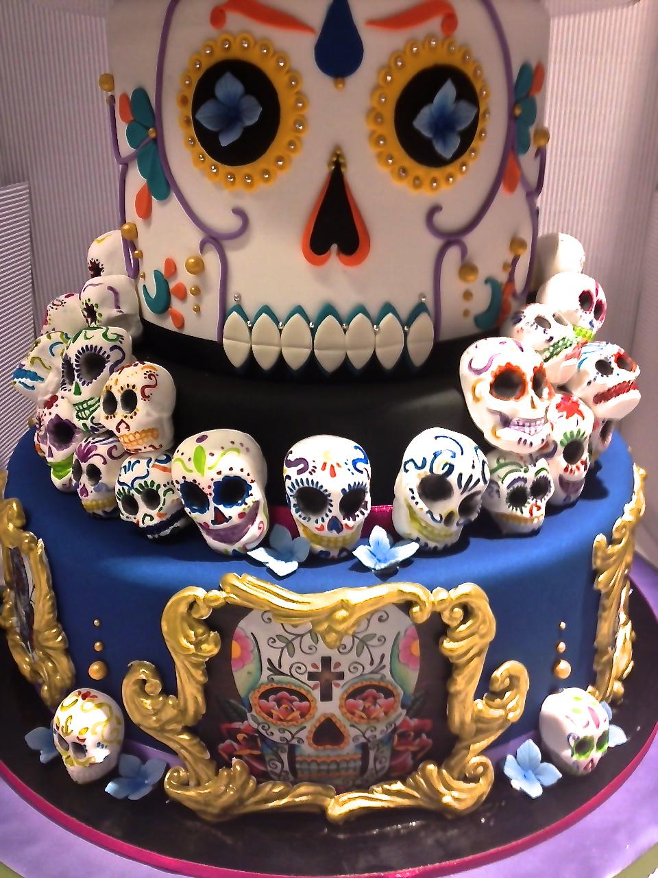 Preferenza Cake Designer: Torta Teschi di zucchero messicani GL34