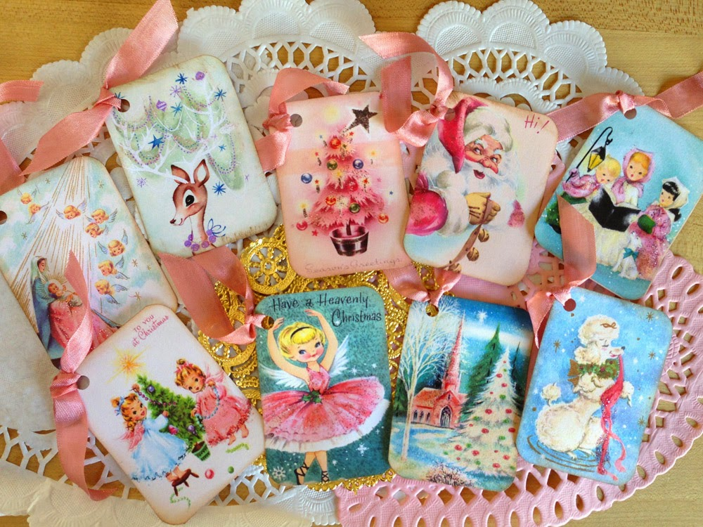saturdayfinds vintage inspired gifts timeless treasures and more pastel christmas decorations - Vintage Christmas Gifts