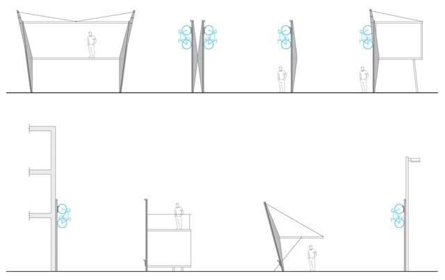 Bicicletário vertical para ciclovias