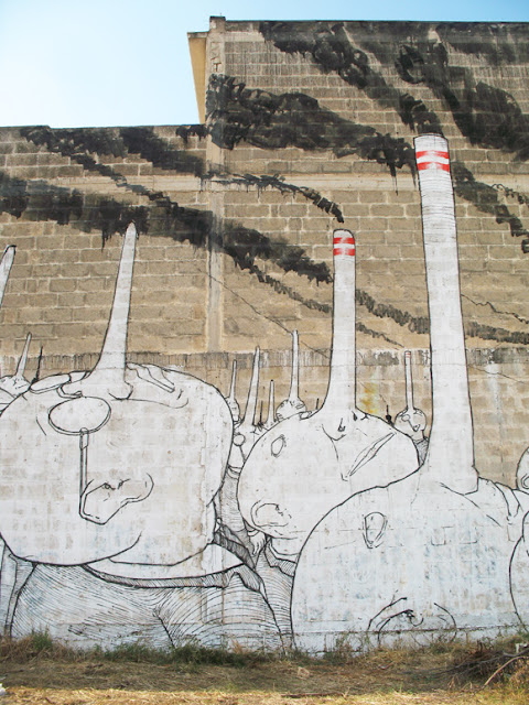 blu street art, blu head, blu industry, street art industry, industry head, industry murales, industry illustration, head illustration