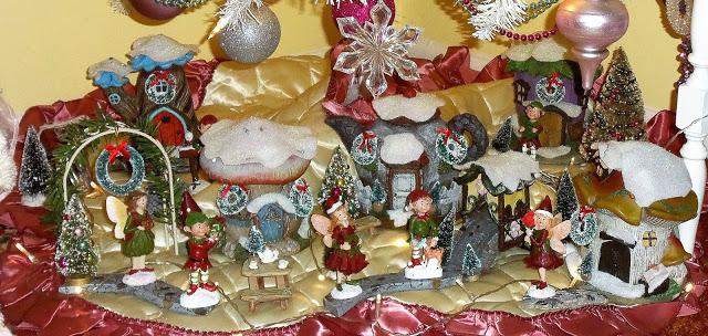 Sitting Room Christmas Fairy Village. Christmas Home Tour, 2016