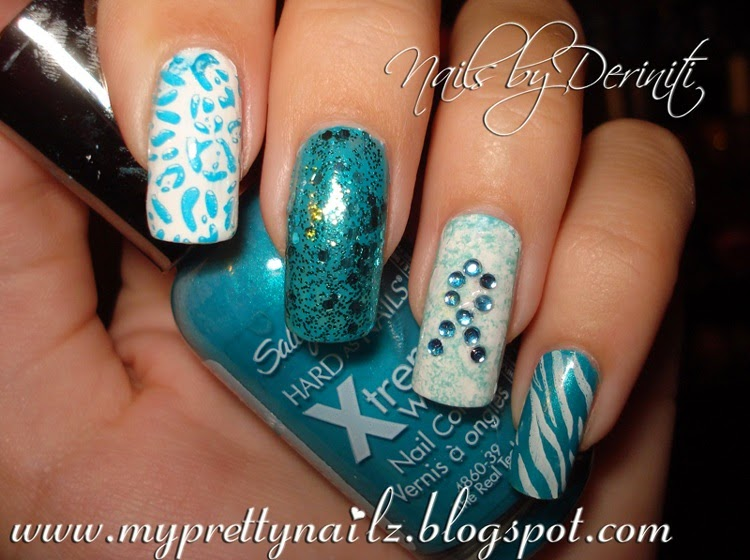 My Pretty Nailz Pcos And Ovarian Cancer Awareness Nail Art Design