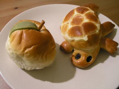 Mela e tartaruga, paste dalla Pastry House Hippo.