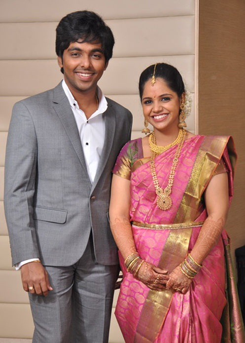 G V Prakash Saindhavi Engagement Photos