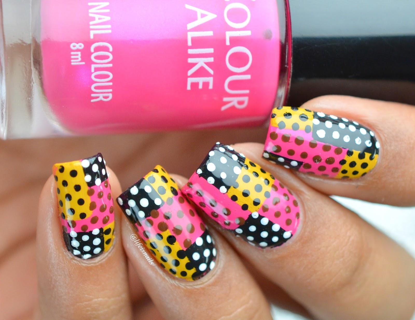Abstract Polka Dot Nail Art ~ Lifeisnails