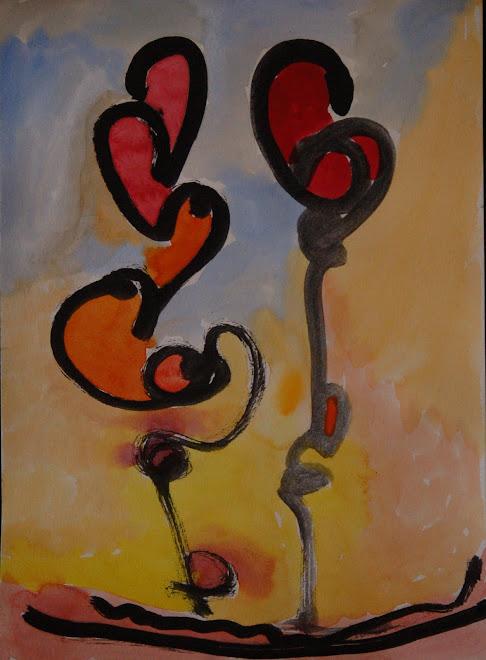 pareja de flores
