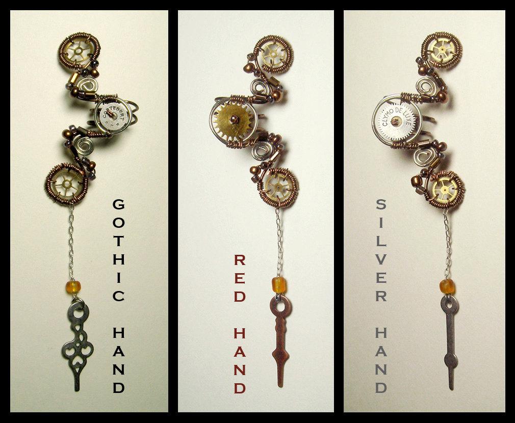 Epbot steampunk sparklies vol 4 steampunk clock hand ear cuff 31 at meowchee baditri Choice Image