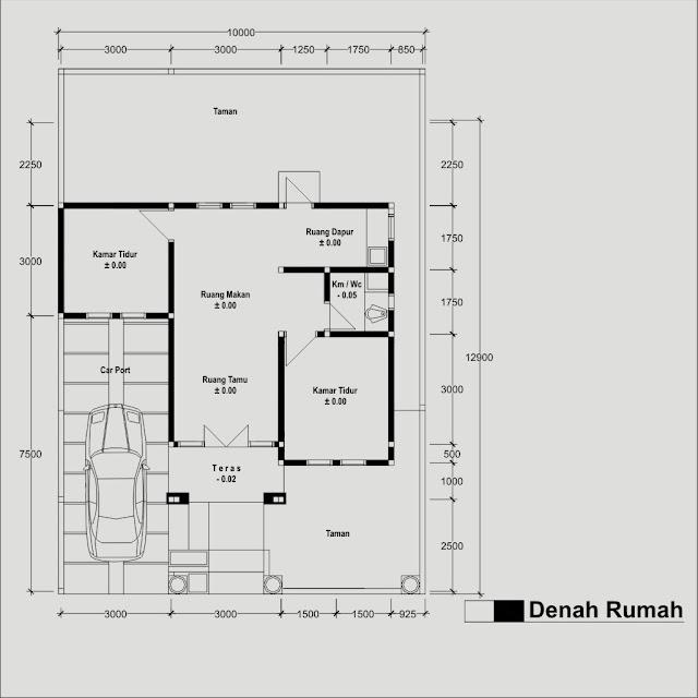 adriyendi blog sketsa denah rumah type 54