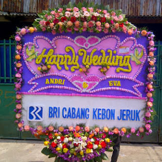 karangan bunga papan pernikahan jakarta
