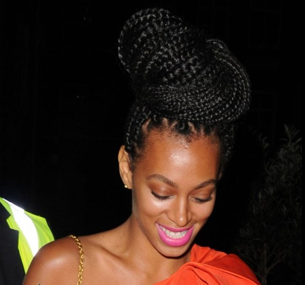 Solange Box Braid Bun Box Braids High Bun