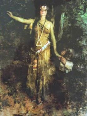 Chân dung của Pocahontas: (Tranh sơn dầu năm 1921, vẽ bởi Howard Chandler Christy, họa sĩ Gallery, New York).