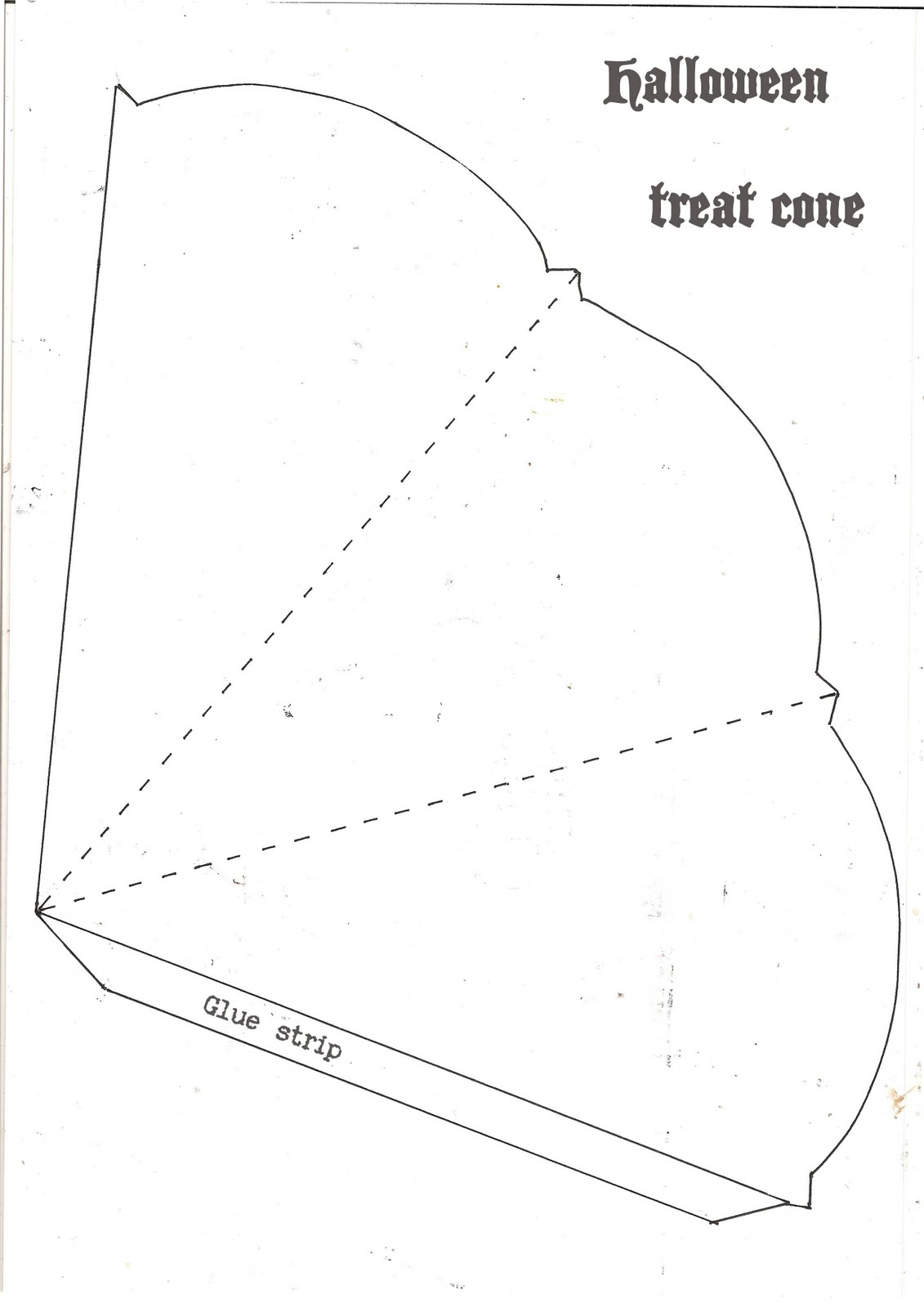 Gingersnap Creations Astrid Maclean Halloween Treat Cone Tutorial