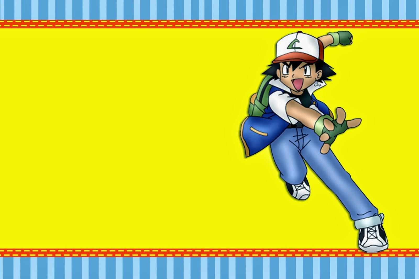 Para hacer invitaciones, tarjetas, marcos de fotos o etiquetas de Pokemon, para imprimir gratis.