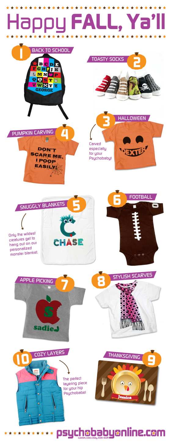 Fall Favorites from Psychobaby