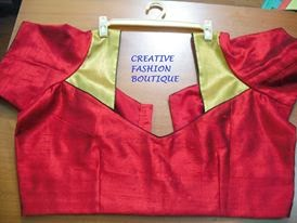 creative fashion shining red blouse
