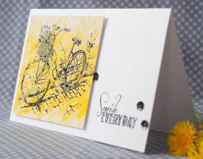 велосипед, эмбоссинг, пура, фен, чисто и просто, желтый