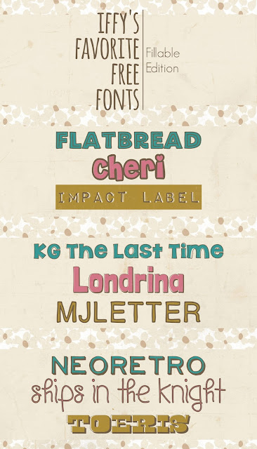 Iffy's Favorite Free Fonts: Fillable Edition