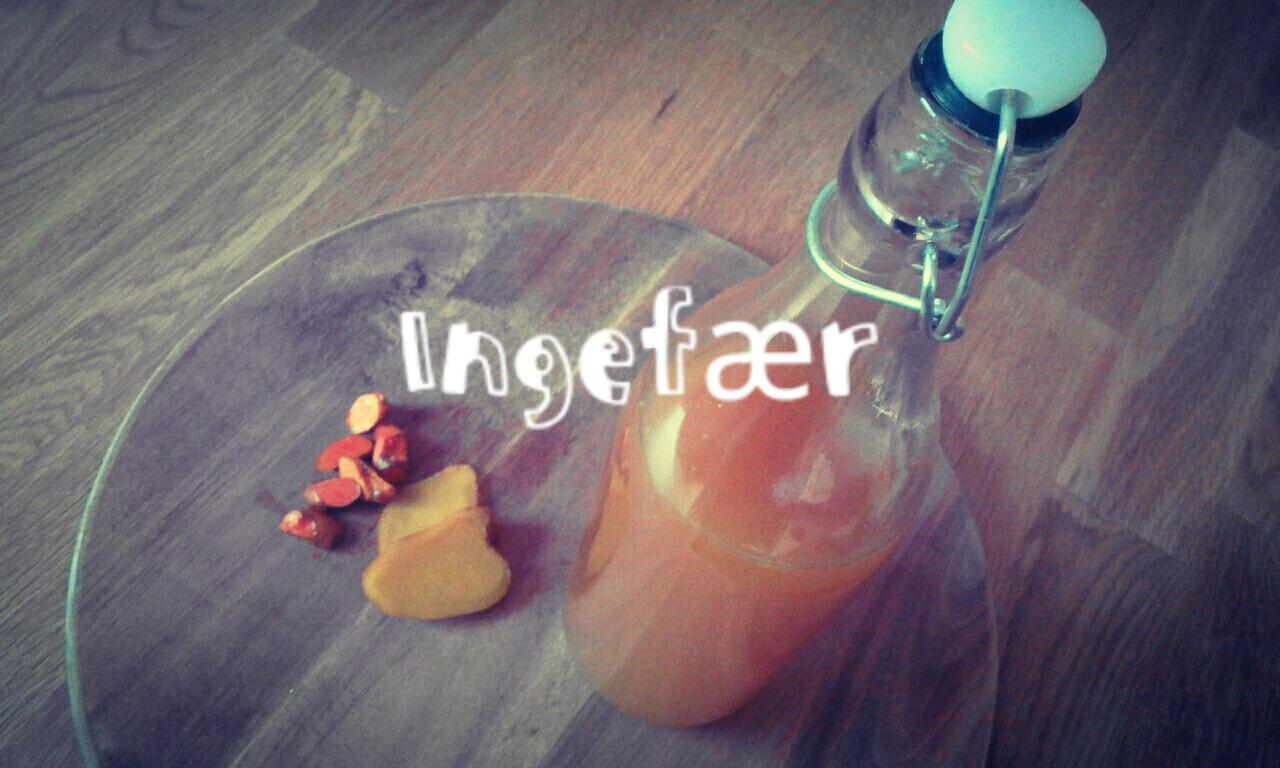 ingefær drik med gurkemejerod