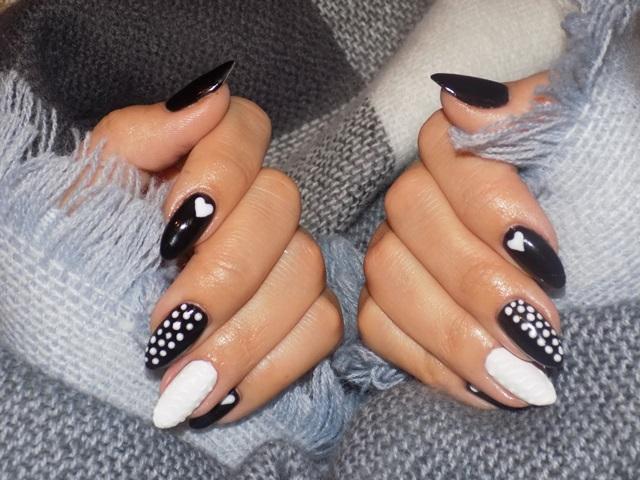 Black & white- manicure jesienny Semilac & allePaznokcie :)