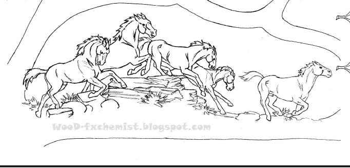 Лошади в движении.