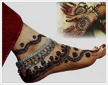Bridal Mehndi Hands And Feet : Bridal mehndi designs for hands backhand feet images back