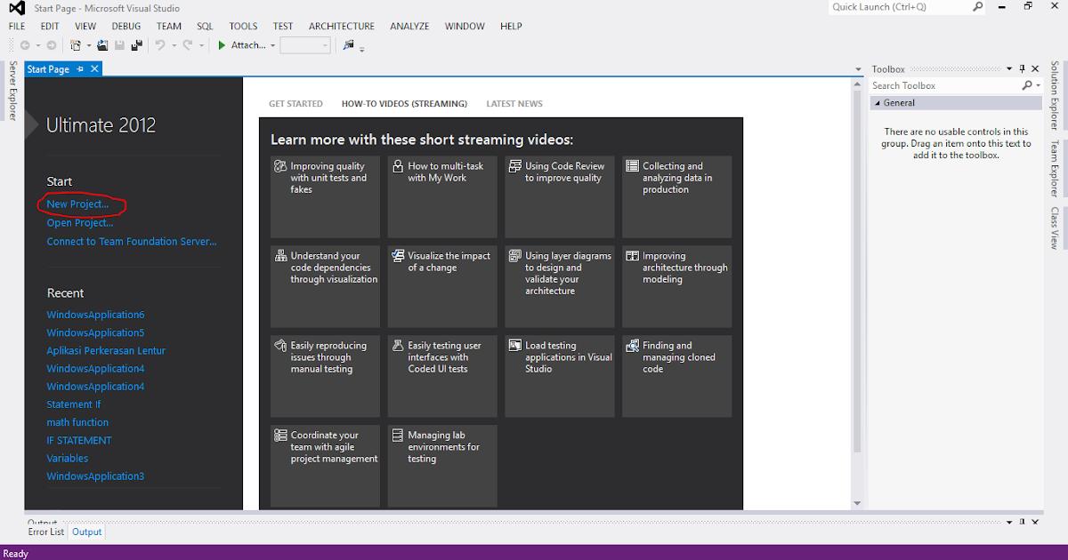 no windows form application in visual studio 2015