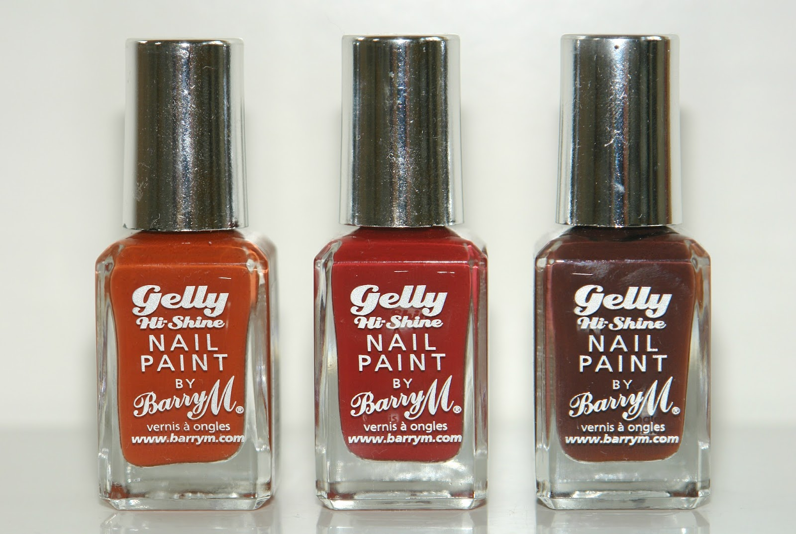 Barry M autumn nail polishes, autumn, Barry M, nail polish, nails, review, swatches, Barry M Paprika, Barry M Chilli, Barry M Cocoa, Tribal range, Gelly Hi-Shine range