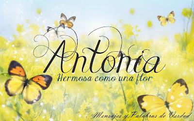 Variaciones de Antonia: Antón, Antonieta, Antonina.