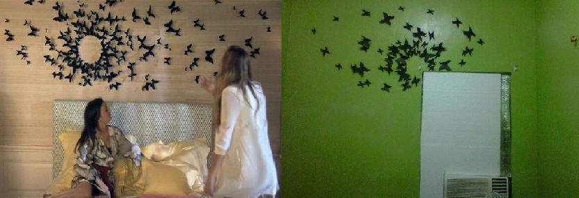 Bedroom Elegant: Serena Van Der Woodsen Bedroom erfly Wall Diy on glamour bedroom, red bedroom, style bedroom, olivia palermo bedroom, celebrity bedroom, love bedroom, sayings for your bedroom,