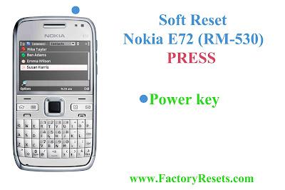 Soft Reset Nokia E72 (RM-530)