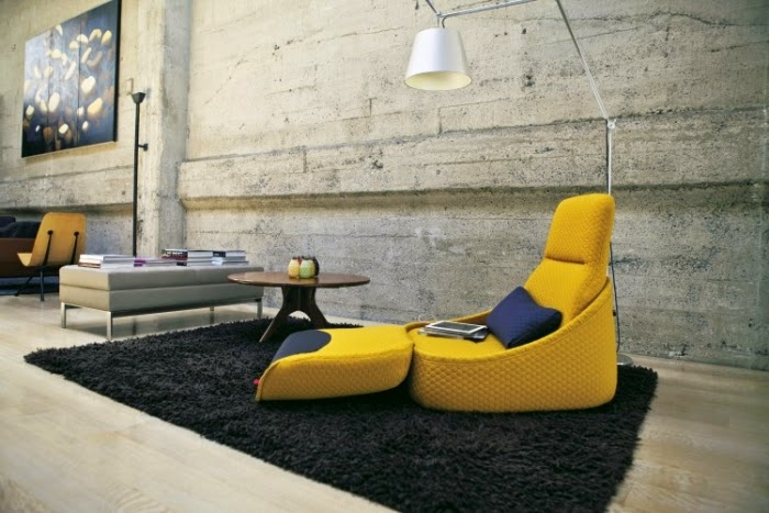Fully Upholstered Living Room Chair In Yellow