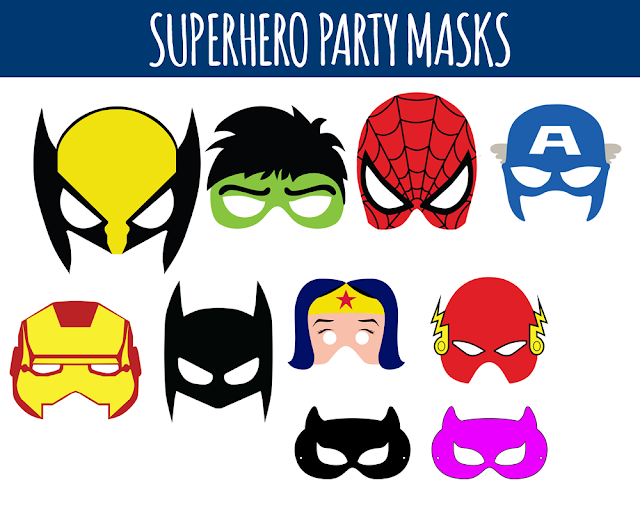 graphic about Free Printable Superhero Mask known as Printable Superhero Birthday Occasion Masks - Cost-free Immediate PNG