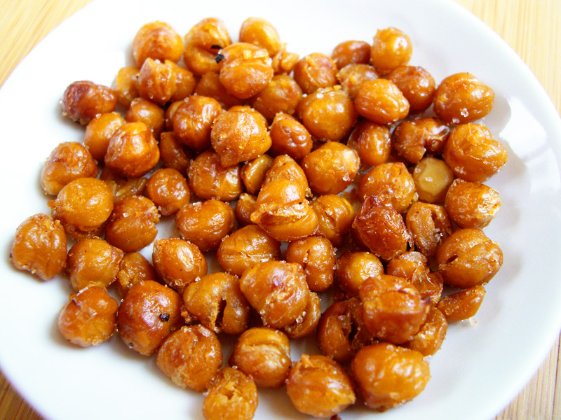 roasted chickpeas... or homemade corn nuts! | Sweet Anna's