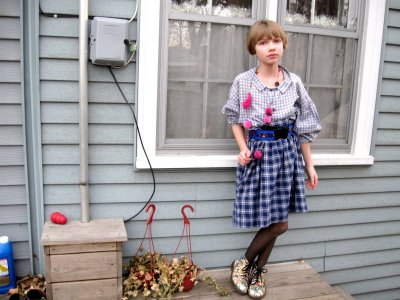 (Rocking it in her back yard at age 11)