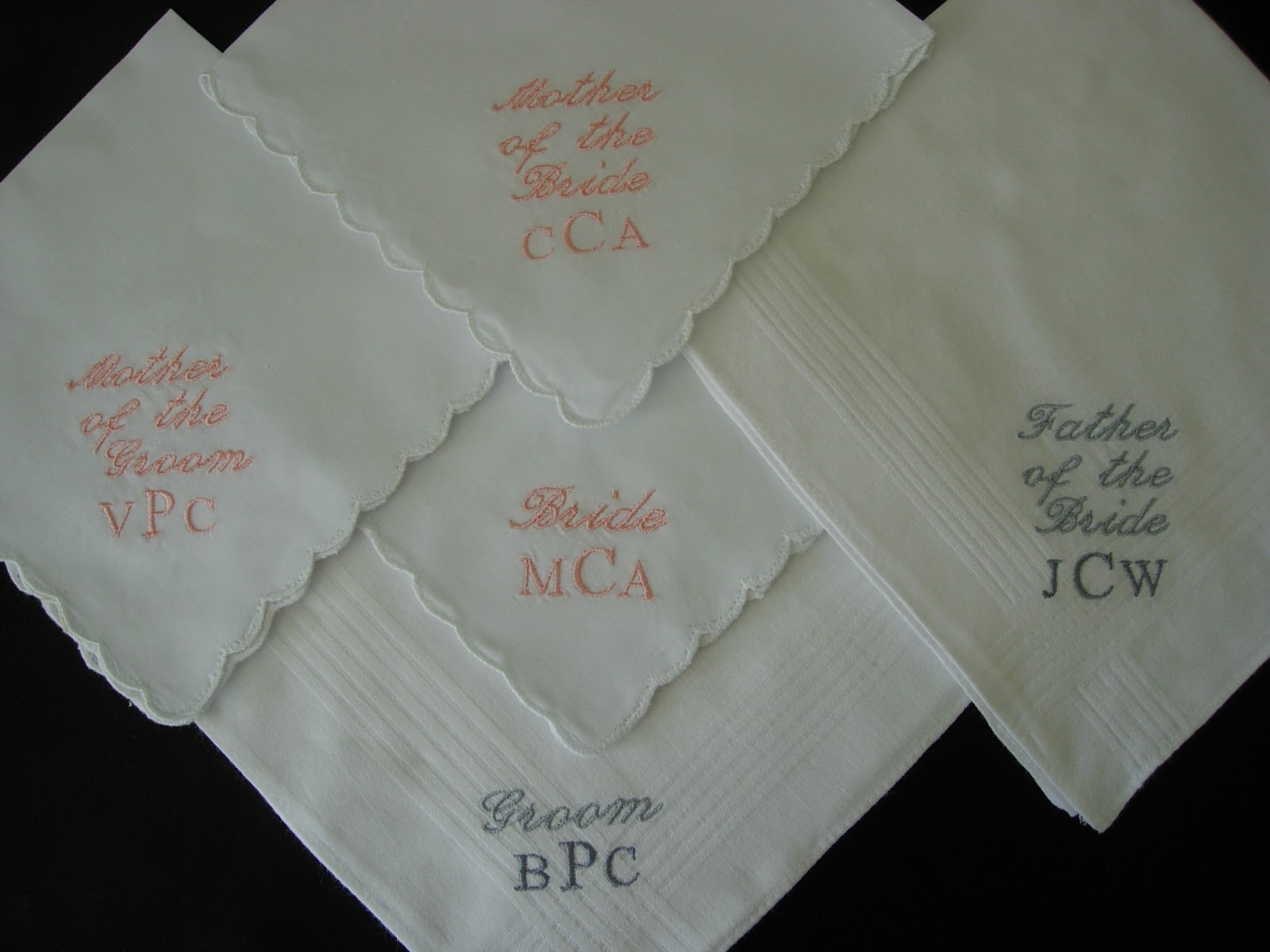 Embroidered Handkerchief 39 S For The Wedding Party