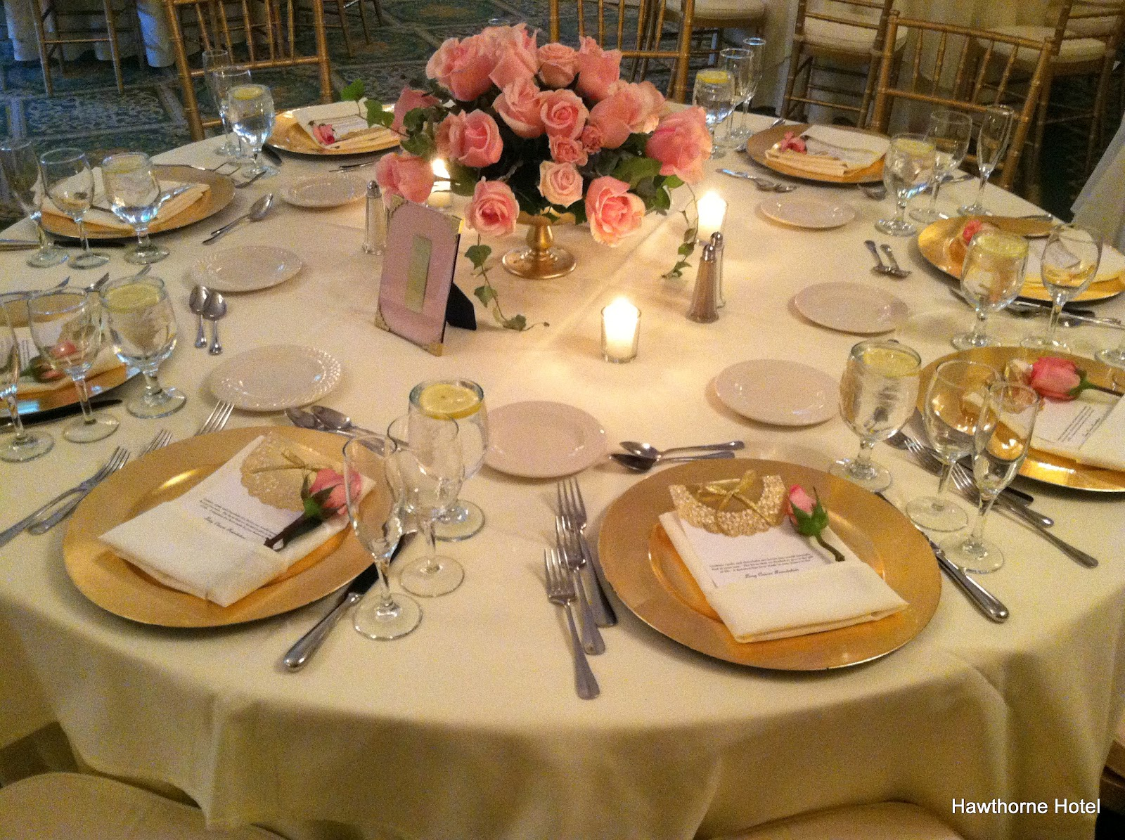 Weddings At The Hawthorne Hotel Blushing Pink And Gold