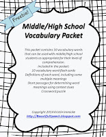 https://www.teacherspayteachers.com/Product/MiddleHigh-School-Vocabulary-Packet-1388492