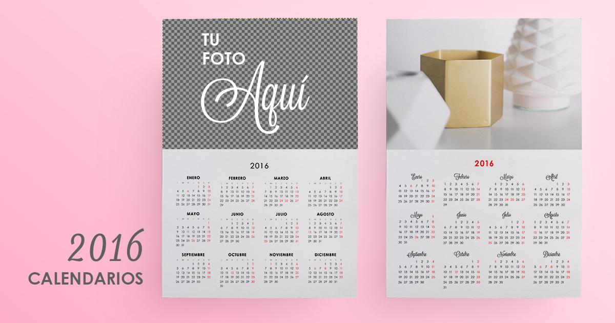 Calendarios para imprimir 2016 personalizados con tu foto - Odisea ...