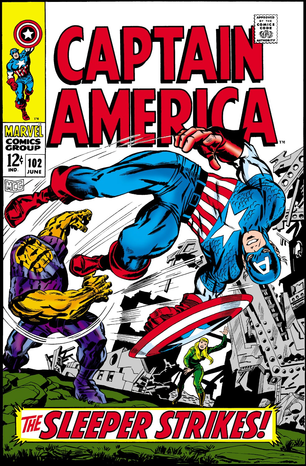 Captain America (1968) Issue #102 #16 - English 1