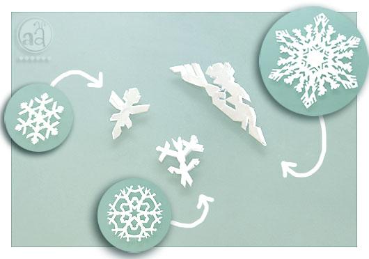 Diy seasonal home decor paper snowflakes artsy ants for Diy snowflakes paper pattern
