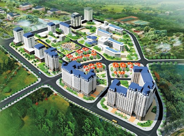 Phối cảnh tổng thế Khu đô thị mới Cổ Nhuế