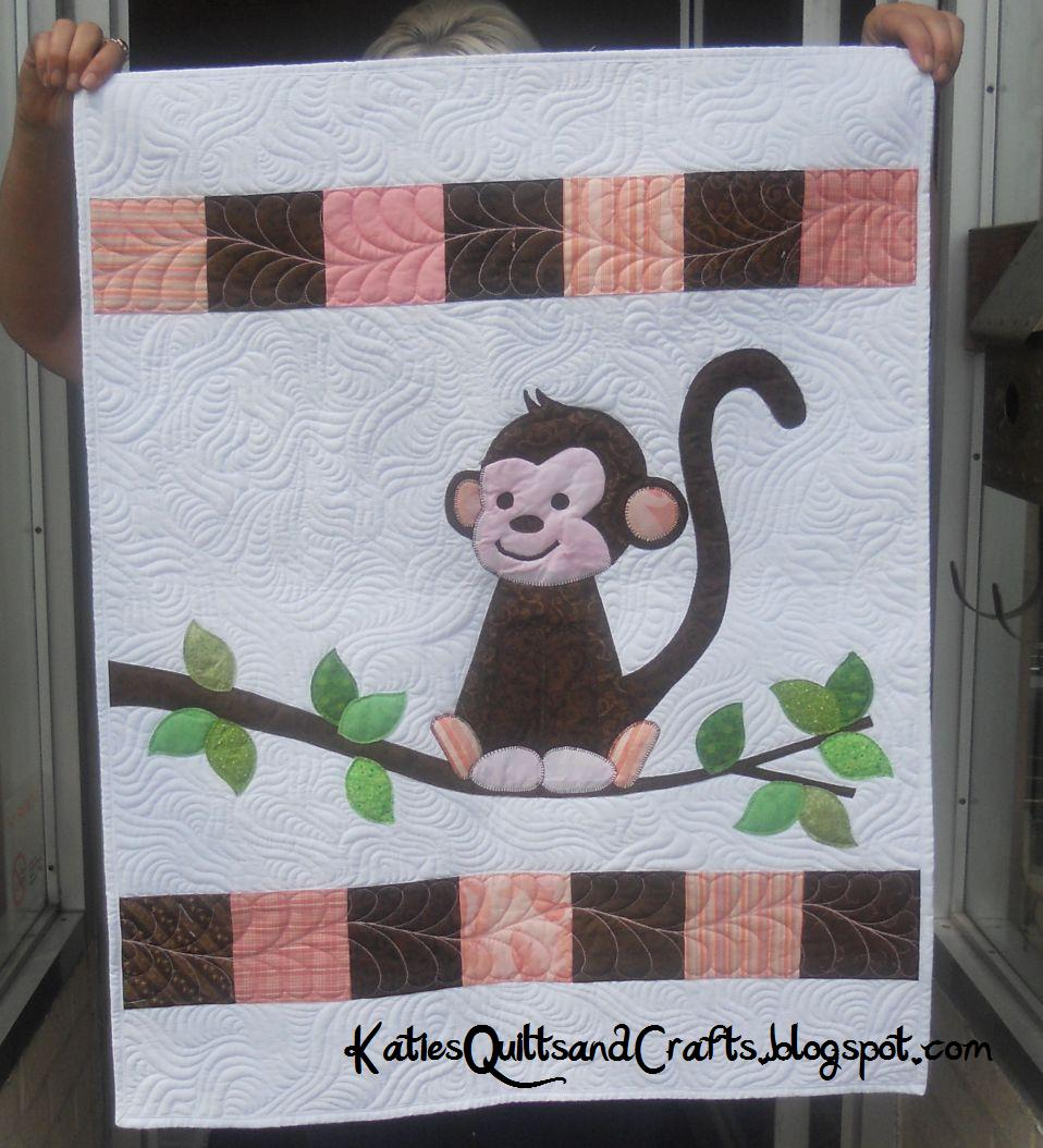 Katie's Quilts and Crafts: Monkey Baby Quilt : monkey quilt pattern - Adamdwight.com