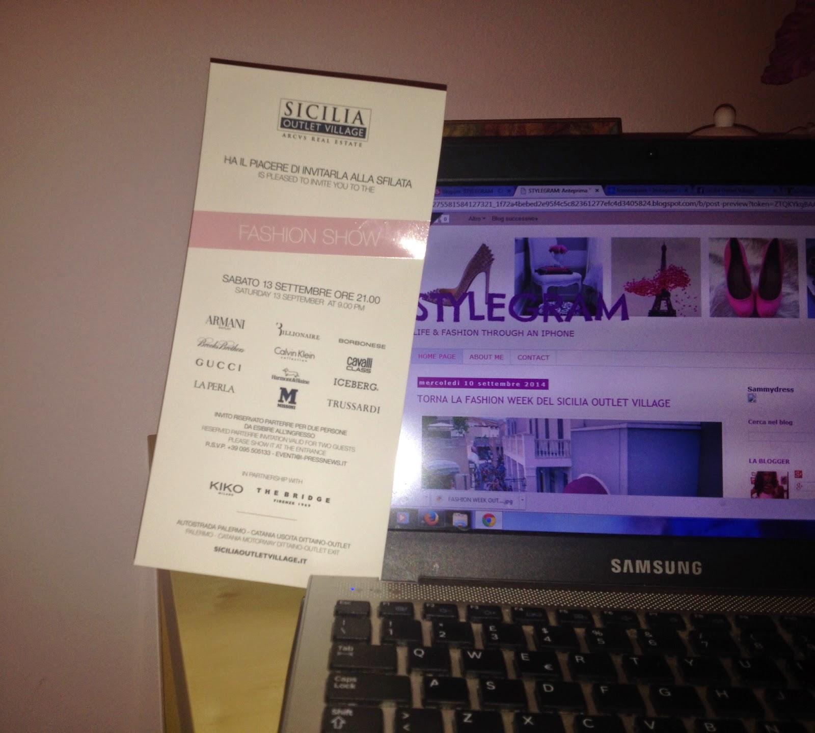 settimana della moda, sicilia outlet village, stylegram