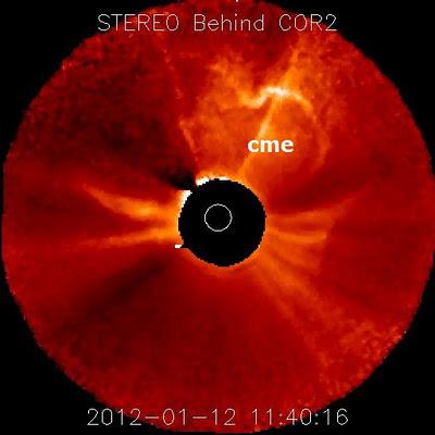 llamarada solar 12 de enero de 2012