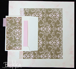 Cute and Clever Scrapbook Page featuring Beau Chateau Paper from Stampin' Up! Clever use of an envelope for hidden journalling and of an embossing folder to create patterns by Bekka www.feeling-crafty.co.uk  buy Stampin' Up! there.