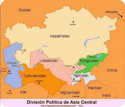 Division Politica de Asia Central